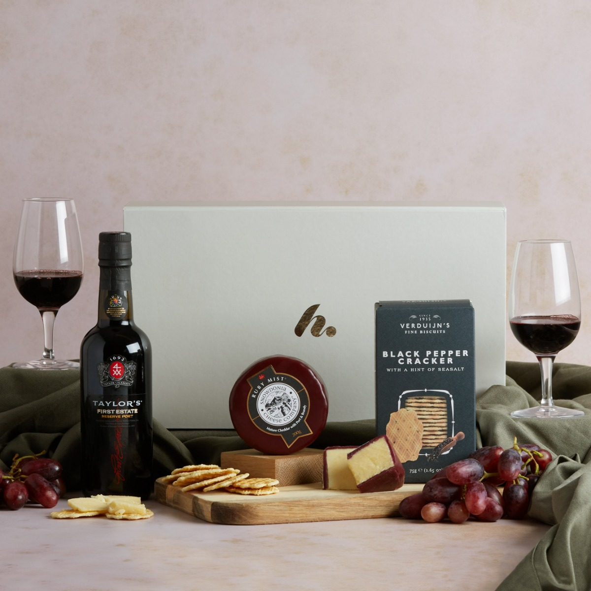 Classic Port & Cheese Hamper Port and Cheese Hampers Hampers.com
