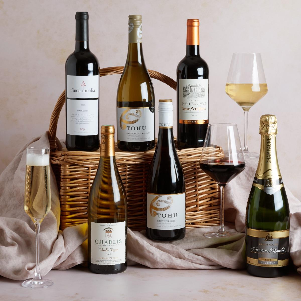 Prestige Six Bottle Wine Selection Wine Hampers UK Hampers.com
