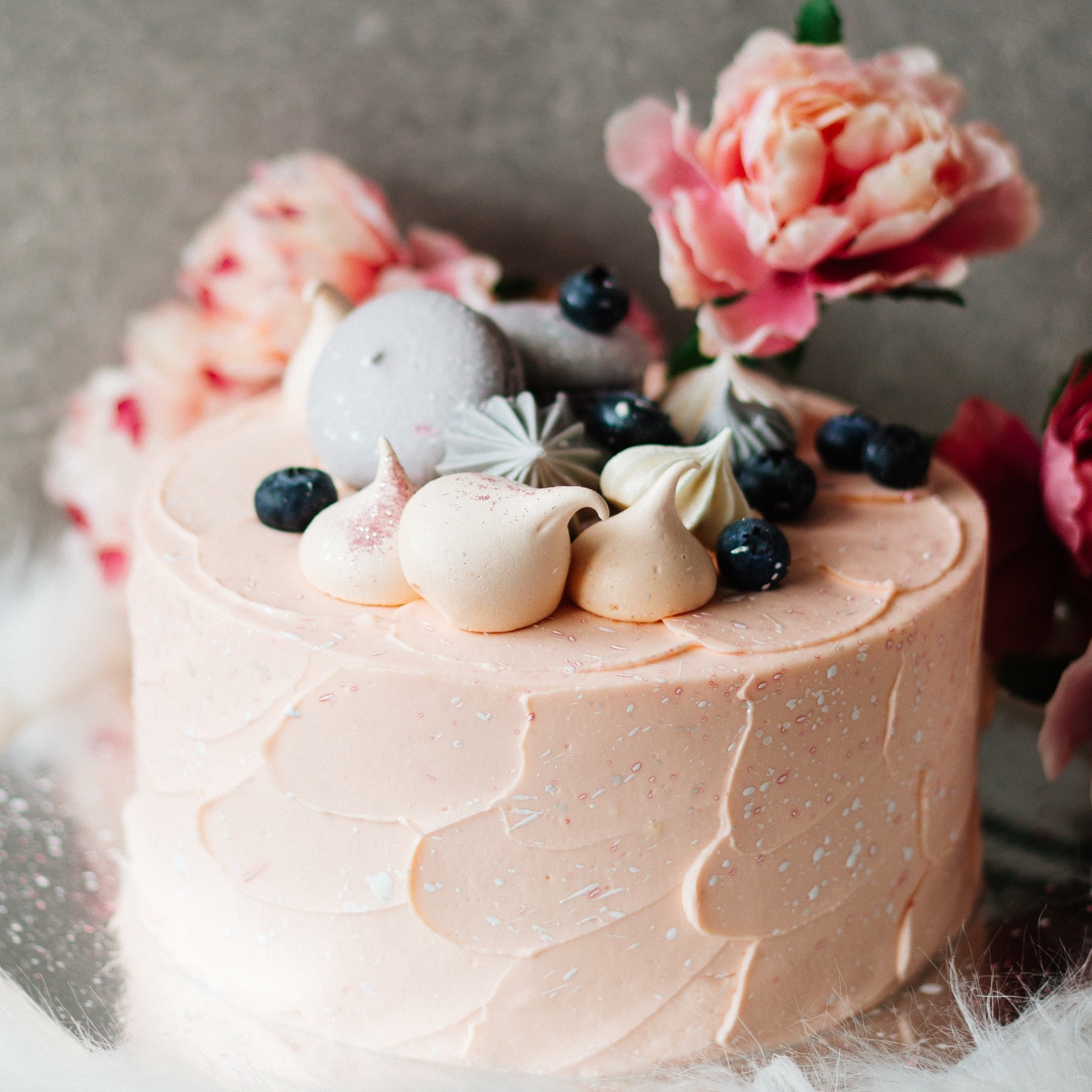 image of birthday cake and flowers