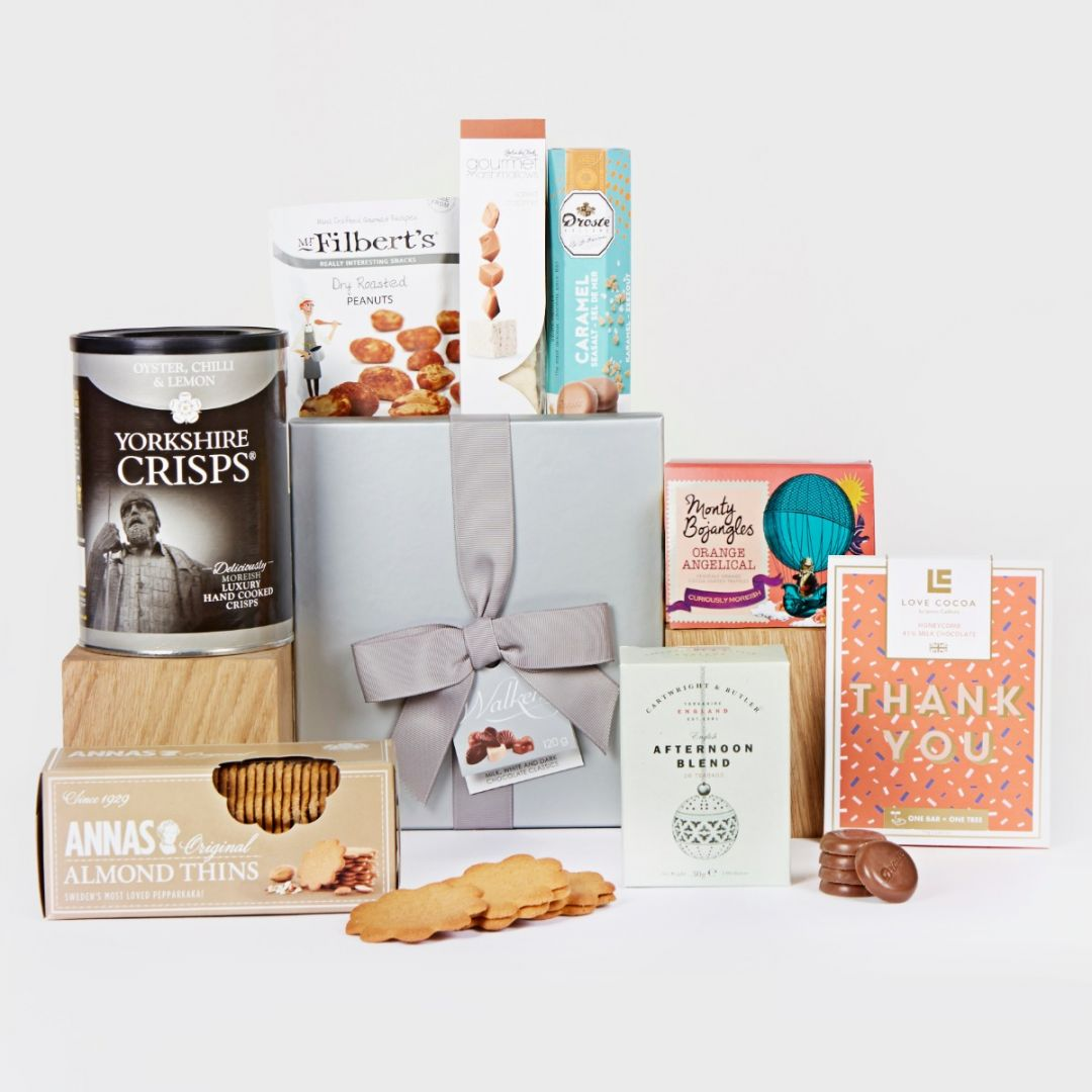 Thank you hamper contents displayed